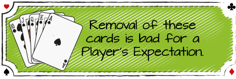 removing high cards