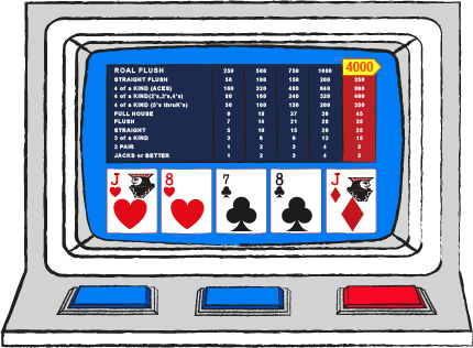 Volatility in video poker
