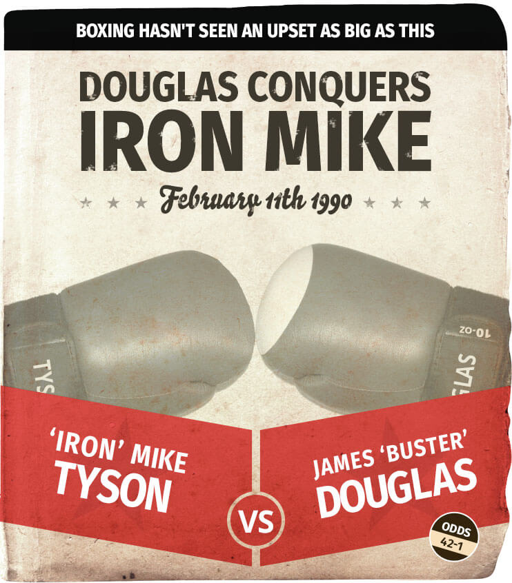 Dougles vs iron mike odds 42:1