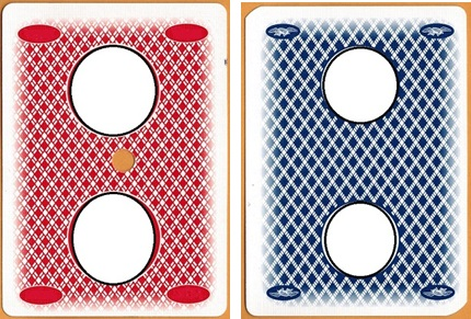 cards with faded edges can also give rise to asymmetries - The image on the left has a top/bottom edge asymmetry. The image on the right has a left/right edge asymmetry