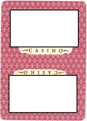 "An image of a back of a card - half-ovals underneath the top logo (beneath the word ""casino""), but there are full ovals above the bottom logo (above the word ""casino"")"