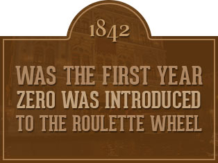 1842 - Zero Introduced to Roulette Wheel