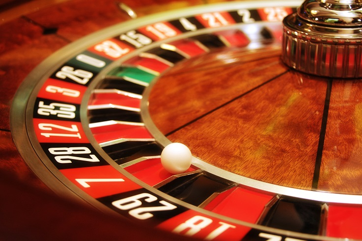 Roulette Wheel at a casino
